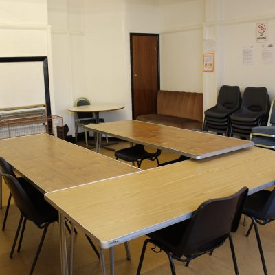 The Crush Room set out for a meeting