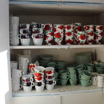 Crockery available for use