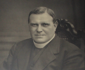 Black and white photo of Reverend Tyson